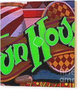 Funhouse Wood Print by Colleen Kammerer