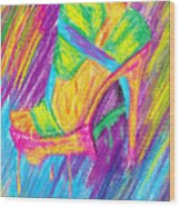 Funky Stilettos Impression Wood Print