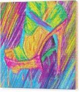 Funky Stilettos Impression Wood Print by Kenal Louis