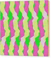 Funky Stripes Wood Print
