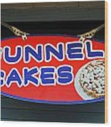 Funnel Cakes Wood Print