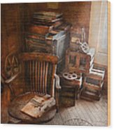 Furniture - Chair - The Engineers Office Wood Print
