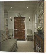 Furniture In Upscale Home Wood Print by Robert Pisano