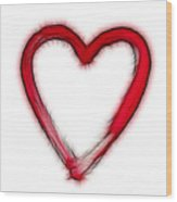Furry Heart - Symbol Of Love Wood Print