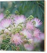Furry Pink Bouquet Wood Print