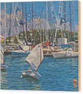 Future Yacht Racers Wood Print