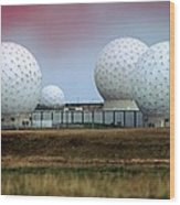 Fylingdales Long-range Radar Station, Uk Wood Print