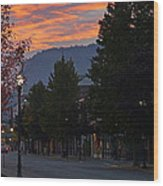 G Street Sunrise In Our Town Wood Print