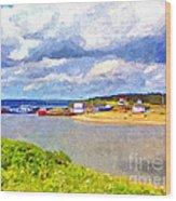 Gabarus Cape Breton Nova Scotia Fishing Village Wood Print