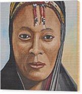 Gabbra Woman In Black  Wood Print