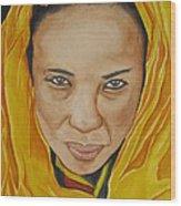 Gabbra Woman In Yellow Wood Print