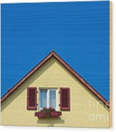 Gable Of Beautiful House In Front Of Blue Sky Wood Print