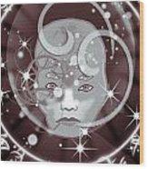 Galactic Face Wood Print
