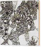 Galactic Warriors Wood Print