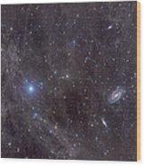 Galaxies M81 And M82 As Seen Wood Print by John Davis