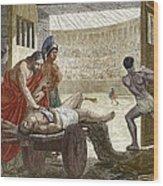 Galen Treating A Gladiator In Pergamum Wood Print