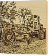 Galion Road Grader V2 Wood Print