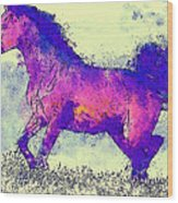Galloping Grace Wood Print