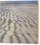 Galveston: Beach Wood Print