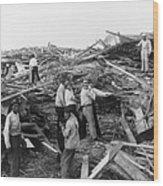 Galveston Disaster - C 1900 Wood Print