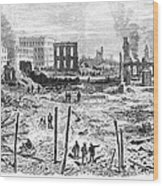 Galveston: Fire, 1877 Wood Print