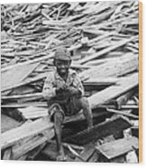 Galveston Flood Survivor - September - 1900 Wood Print by International  Images