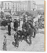 Galway Ireland - The Market At Eyre Square - C 1901 Wood Print