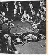 Gambling In Monte Carlo, On The French Wood Print