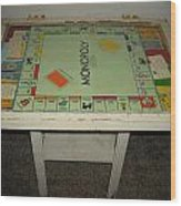 Game Table Wood Print