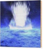 Gamma Ray Burst Eruption Wood Print by Nasa