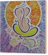 Ganesh Vandan Wood Print