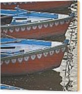 Ganges River, Varanasi, India Moored Wood Print
