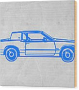 Gangster Car Wood Print by Naxart Studio