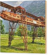 Gantry Crane Wood Print
