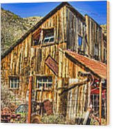 Garage Shack Wood Print