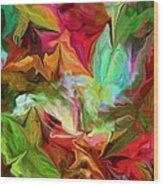 Garden Abstract 072312 Wood Print
