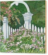 Garden Circle Gate Wood Print