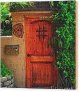 Garden Doorway Wood Print by Perry Webster