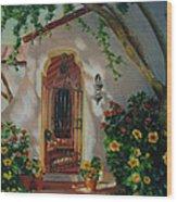 Garden Entry  Wood Print