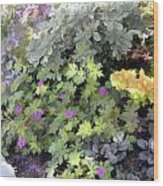 Garden Flower Border Wood Print