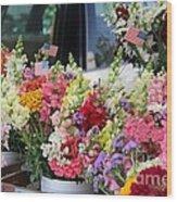 Garden Flower Stand Wood Print