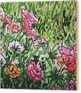 Garden Flowers Sketchbook Project Down My Street Wood Print