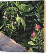 Garden  Wood Print