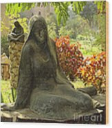 Garden Of Statues Egypt Wood Print