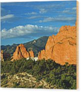 Garden Of The Gods Front Side View Wood Print