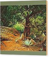 Garden Of The Lost Tribe Wood Print