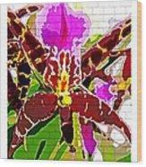 Garden Orchid Wood Print