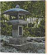 Garden Pagoda Wood Print