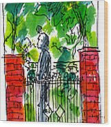 Garden Philadelphia Wood Print by Marilyn MacGregor