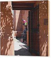 Garden Sculptures Museum Of Art In Santa Fe Nm Wood Print